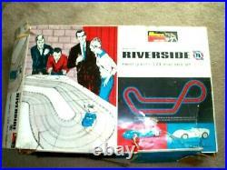 1/24 Monogram Riverside Slot Car Set In Box- Controllers/ Track CARS