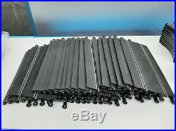 132 Hornby Scalextric Giant Lot 55 Track Pieces 4-Controllers Boarders Rails