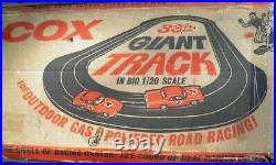1960s Cox Gas Outdoor Track (Boxed)+GT40 & Corvette 1/20th scale And accessories