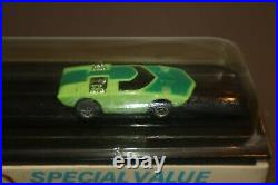 1972 Aurora AFX A/FX Too Much HO Slot Car & Track Factory Sealed Cube 1754 Green