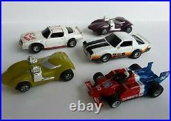1980's Tyco Electric Slot Car Race Track 200 Plus Piece Lot