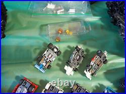 2 AFX Tomy Super G-Plus GIANT RACEWAY Slot Car Track Set #9876 with 11 Cars