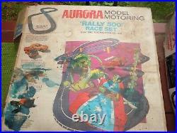 2 Aurora Model Motoring AFX HO Race track Sets Rally 500 & Mario Andretti +++