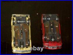 2 Aurora slot cars, powerpack. Atlas/Lionel track. Atlas speed controls