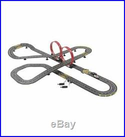 2 Porsche Car Slot Racing Set Controllers Loops Crossover Track Racecar Counter