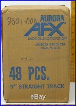 48pc 1971 Aurora USA AFX 9 Wiggle Ice Squiggle HO Slot Car Track 2501 Unused A+