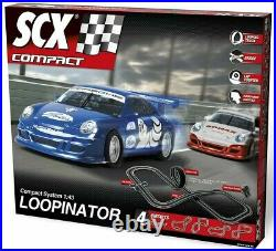 4pc CASE of SCX Compact 1/43 Loopinator Slot Car Set Porsche Electric Race Track