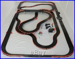 53.5' AFX Tomy LIGHTED Firebird Giant Raceway Track Slot Car Set, Ready To RUN