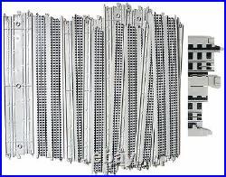 60 Quik-Clik TYCO HO Slot Car 15 STRAIGHT TRACK GRAY R/R Graphics Unused B5838T