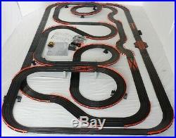 61' AFX Tomy LIGHTED Firebird Giant Raceway Track Slot Car Set, Ready To RUN