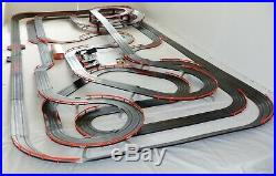 91' Mega 54 x 111 AFX Tomy Giant Raceway Track Slot Car Set 100% Ready To RUN