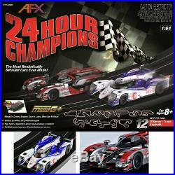 AFX 22004 24 Hour Champions Toyota Audi HO Slot Car Track Set