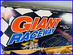 AFX Giant Raceway Slot Car Track 62.5 Complete Clean & Works Great. P/N 21017