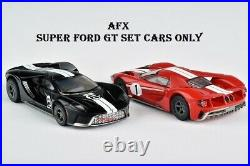 AFX New Track Set With 2 Mega G+ Super Cars Ford GT's with Tri Power Racing