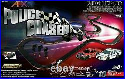 AFX Police Chasser Race Set 30 feet of Racing 10 track layouts 1/64 Scal