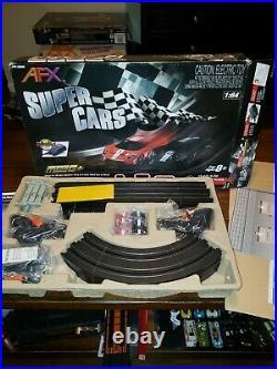 AFX SUPER CARS HO SLOT CAR TRACK tyco aw g plus mega g+
