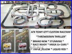 AFX TOMY HUGE 67FT CUSTOM RACE WAY TRACK for Mega G/G+ Super G Plus Turbo SRT