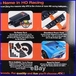 AFX Tomy Giant Raceway 2 Slot Car Set 62.5 Track 4 x 8 Tested P/N 21017 Used