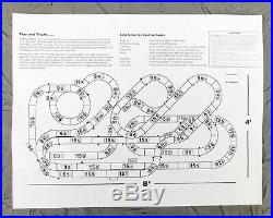 AFX Tomy Giant Raceway 2 Slot Car Set 62.5 Track 4 x 8 Tested P/N 21017 Used