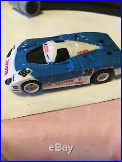 AFX Tomy Super G Plus 4 Way Split Raceway Race Slot Car Set Parts