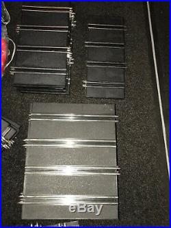 ARTIN -4 Lane 1/43 Scale Slot Car Track. With 8 Slot Cars- 4 Are NOS