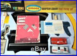 AURORA K&B COMPLETE 1/32 A-JET BIG Slot Car Race Track Set 2 LANE 2 Car Box COX