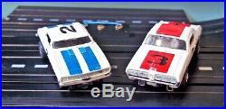 AURORA MM SEARS #1981 T-JET 2 LANE HO Slot Car Race Track Set 2 Cars Box+ TYCO