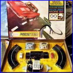 AURORA MODEL MOTORING #1300 T-JET 2 LANE HO Slot Car Race Track Set 2 Cars +Box