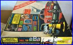 AURORA MODEL MOTORING #1417 T-JET 2 LANE HO Slot Car Race Track Set 2 Cars +Box