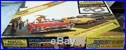 AURORA MODEL MOTORING COMPLETE HO 1308 TJet 4 LANE Slot Car Race Track Set 4 Car