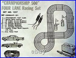AURORA MODEL MOTORING GOOD HO 1317 TJet 4 LANE Slot Car Race Track Set 4 Car AFX