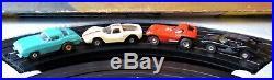 AURORA MODEL MOTORING HO #1304 TJet 4 LANE Slot Car Race Track Set 4 Cars TYCO