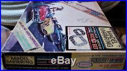 AURORA MODEL MOTORING HO #1308 TJet 4 LANE Slot Car Race Track Set 4 Cars TYCO