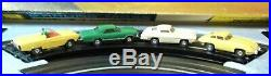 AURORA MODEL MOTORING NICE HO #1304 TJet 4 LANE Slot Car Race Track Set 4 Cars +