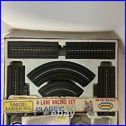 AURORA Model Motoring HO 1513 Classic Slot Car Race Track Set 4 Lane No Cars