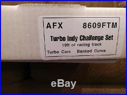 Afx 8609 Ftm Tomy Slot Race Set 1991 Turbo Indy Challenge Set 19' Of Track Nib