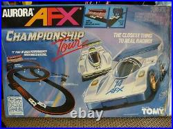 Aurora AFX Championship Tour Slot Car Track Set Complete TESTED