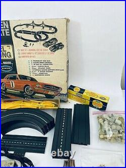Aurora Model Motoring #1956 Golden Gate Bridge HO Slot Car Race Track Set 1965