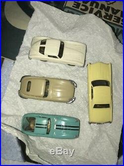 Aurora Model Motoring Nice HO #1304 TJet 4 Lane Slot Car Race Track Set 4 Cars