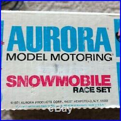 Aurora Model Motoring Snowmobile Race Set Track & Accessories Rare 1971 AFX