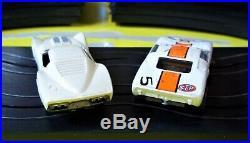Aurora Model Motoring T-jet #1301 Ho 2 Lane Slot Car Race Track Set 2 Cars Box +