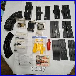 Aurora Slot Car Track & Accessories H. O. Scale Vintage Large Lot / No Cars