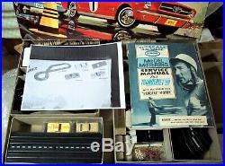 Aurora Vintage Nice Rare Tjet #1909 Slot Car 4 Lane Race Track Set 4 Cars Box +