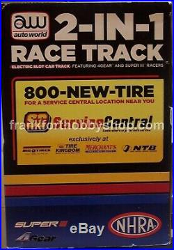 Auto World #CP3000ntb 1/64 2-in-1 Race Track Brand New