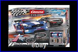 Break away Carrera Racing Evolution Slot Car Track Set 1/32 Scale Cars 20025236