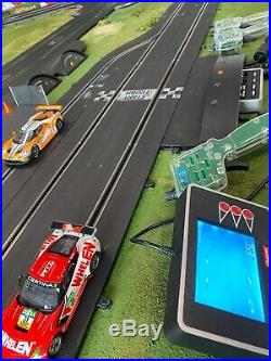 Carrera 1/32 Digital Slot Car Track with 4 Carrera Cars Excellent Condition