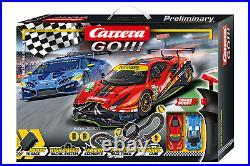 Carrera 62526 GO! 143 Race The Track Slot Car Set Ferrari vs Lamborghini