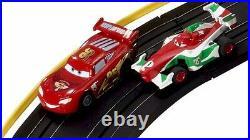 Cars 2 London City Raceway Slot Car Racing Ho Track Set Disney Pixar Collectible