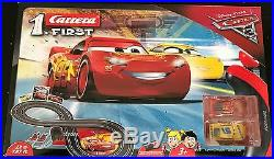 Cars 3 Lightning McQueen RC IR Carrera Remote Control Slot Car Race Track Ages 3