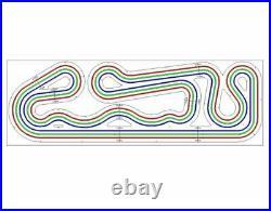 Custom HO Routed Slot Car Track KIT 3 Lane 3' x 9' Viper V1 AFX Tomy Tyco